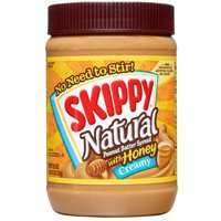 (2 Pack) Skippy Natural Creamy Peanut Butter Spread with Honey, 26.5 Ounce