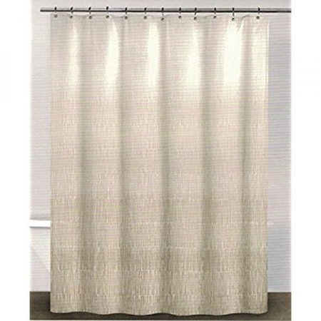 Dkny Twine Linen Beige Cotton Fabric Shower Curtain