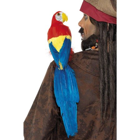Parrot 20in with elastic holder for Pirate Costume Smiffys 33656