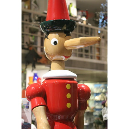 - Peel-n-Stick Poster of Marionette Game Pinocchio Puppet Nose Fable Poster 24x16 Adhesive Sticker Poster Print