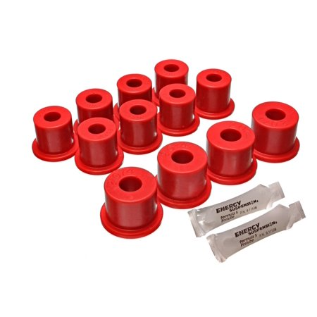 Energy Suspension 80-86 Nissan 720 & Hardbody Pickup 2WD Red Rear Leaf Spring Bushing Set 1986 Nissan 720 Base
