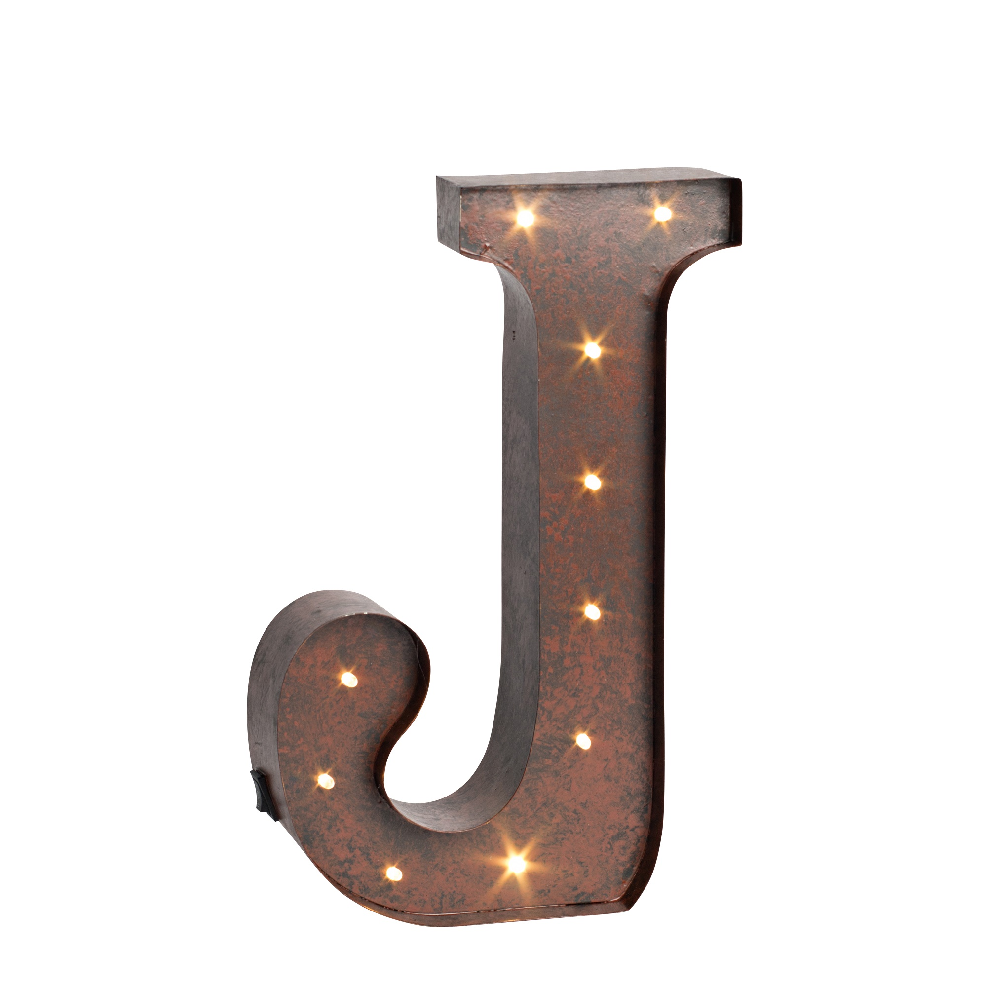 Large Metal Letter J Letter Lights
