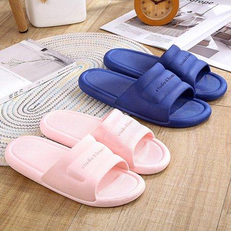 N297 Low Heels Slippers Summer Men Women Home Bathroom Non-slip Slippers - image 4 de 8