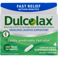 Dulcolax Medicated Laxative Suppositories 4ct
