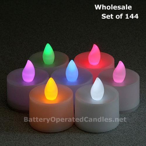 Wholesale LED Color Changing Tea Lights 144 PcsSeven Colo...