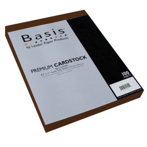 "Basis Red 80# Cover 11""x17"" - 100 sheets Limited Papers TM Brand"