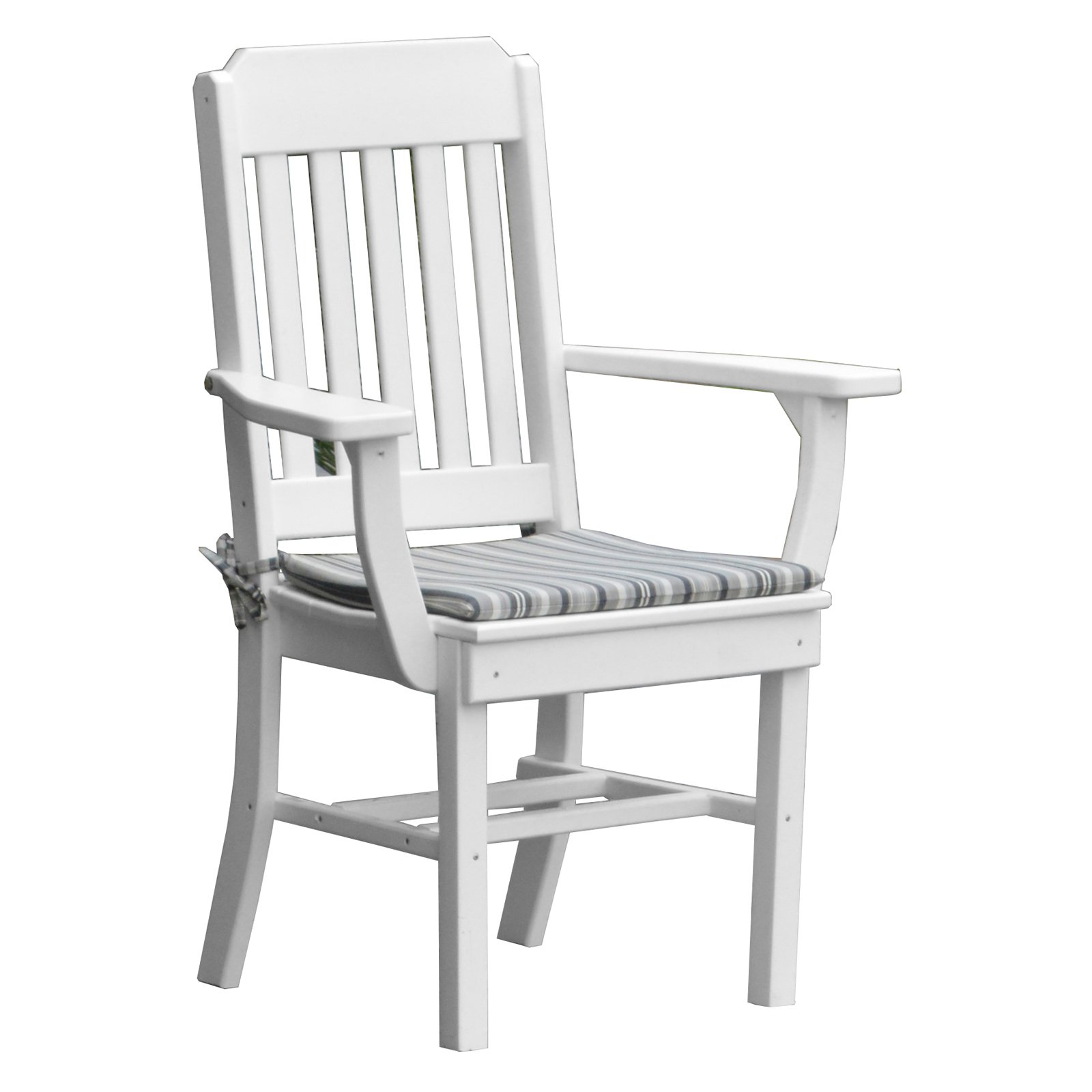 Radionic Hi Tech Cambridge Recycled Plastic Straight Back Patio Dining Armchair by