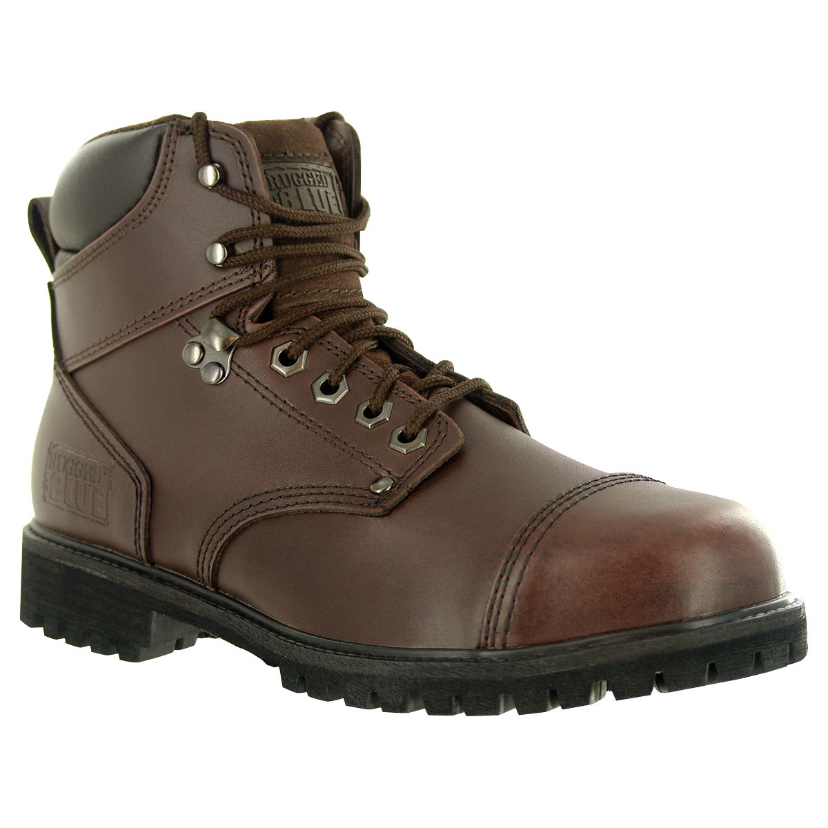 Rugged Blue RB2 Steel Toe Work Boot Dark Brown WP Steel Toe 10.5M