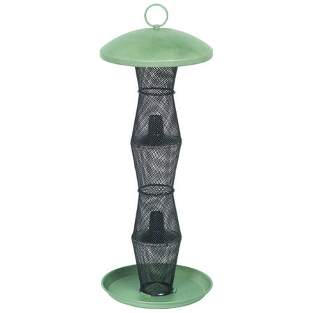 Blacklight Tube - NO/NO Green & Black Finch Tube Wild Bird Feeder