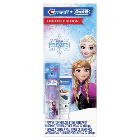 Crest & Oral-B Kids Gift Pack with Power Toothbrush and 4.2 oz Toothpaste featuring Disney Frozen