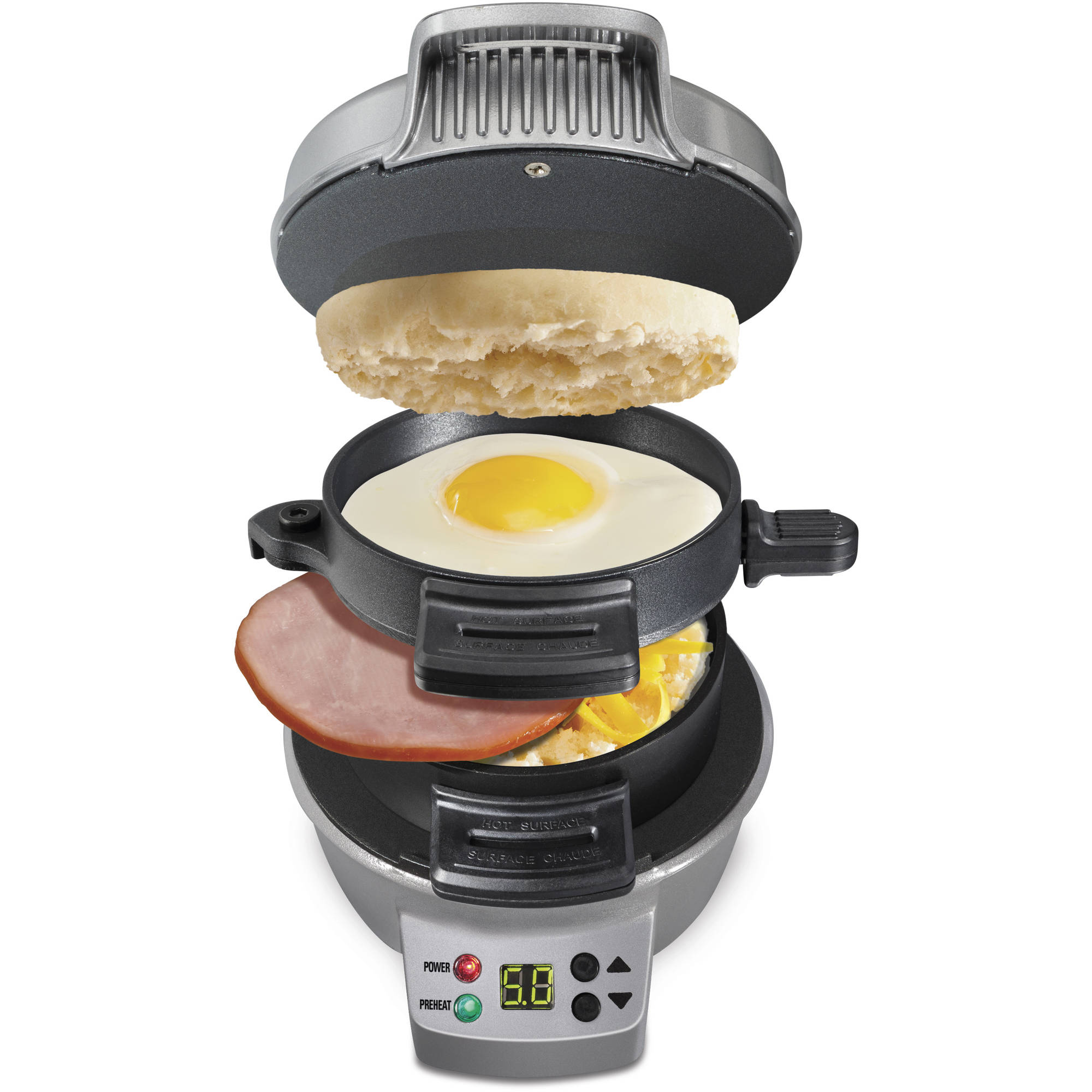 Hamilton Beach Breakfast Sandwich Maker with Count Down Timer | Model# 25478