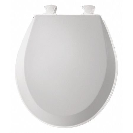 BEMIS Toilet Seat,Round,With Cover,14-3/8 in.W 500EC-000 Bemis Toilet Seat Hinges