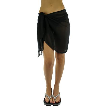 7f852a3bfdf6c Luxury Divas - Luxury Divas Semi Sheer Short Sarong Bathing Wrap ...