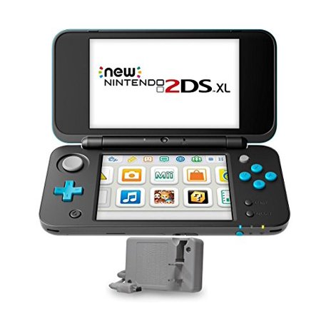 New Nintendo 2Ds Xl 2 Items Bundle  New Nintendo 2Ds Xl   Black   Turquoise Console And An Extra Ac Adapter