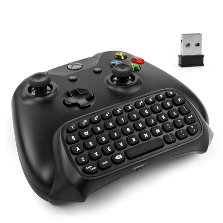 Wii Mini Wireless Controller - Xbox One Controller Keyboard - 2.4Ghz Wireless Mini Bluetooth Text Messenger Chatpad Keypad Adapter for Xbox One Game Controller Black [Xbox One]