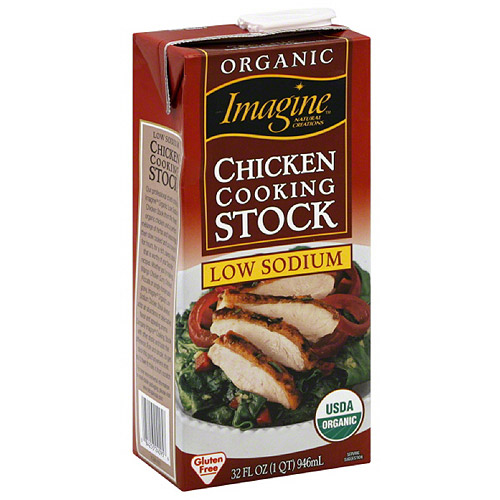 Imagine Organic Low Sodium Chicken Cooking Stock, 32 fl oz, (Pack of 12)
