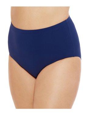 Women's Plus Size Swim Brief by Christina - Blue/Navy Size: 3X(22-24)