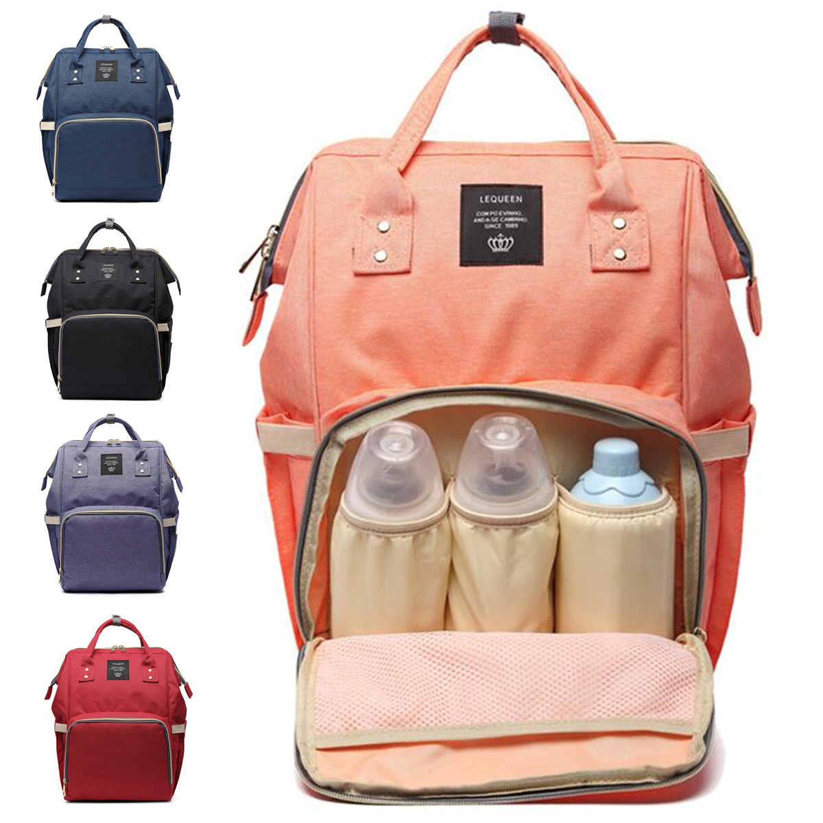 New Multifunctional Backpack Waterproof Large Bag Baby Diaper Bag Mummy Travel Backpack