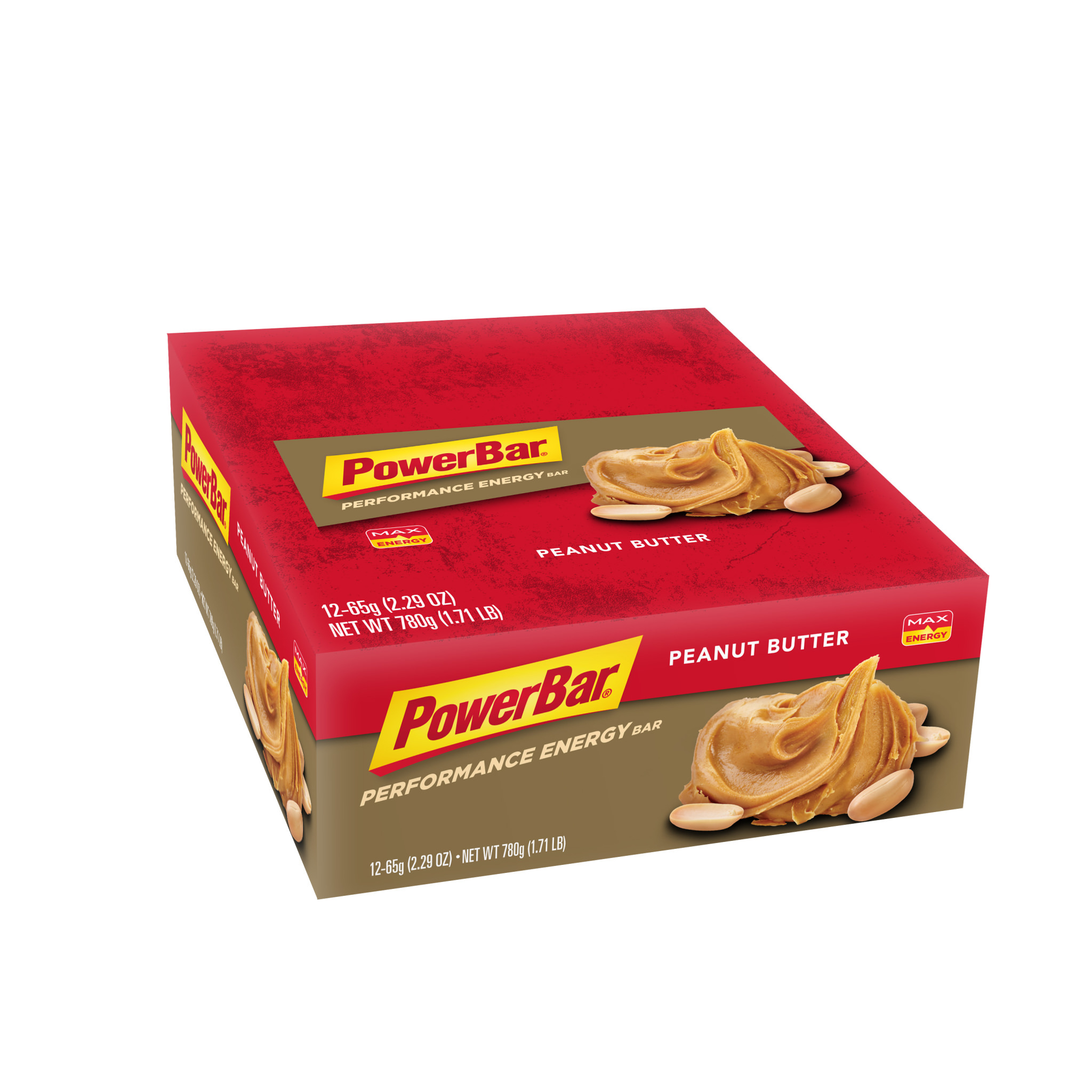 PowerBar Performance Energy Bar, Peanut Butter, 2.29 oz Bar, (12 Count)