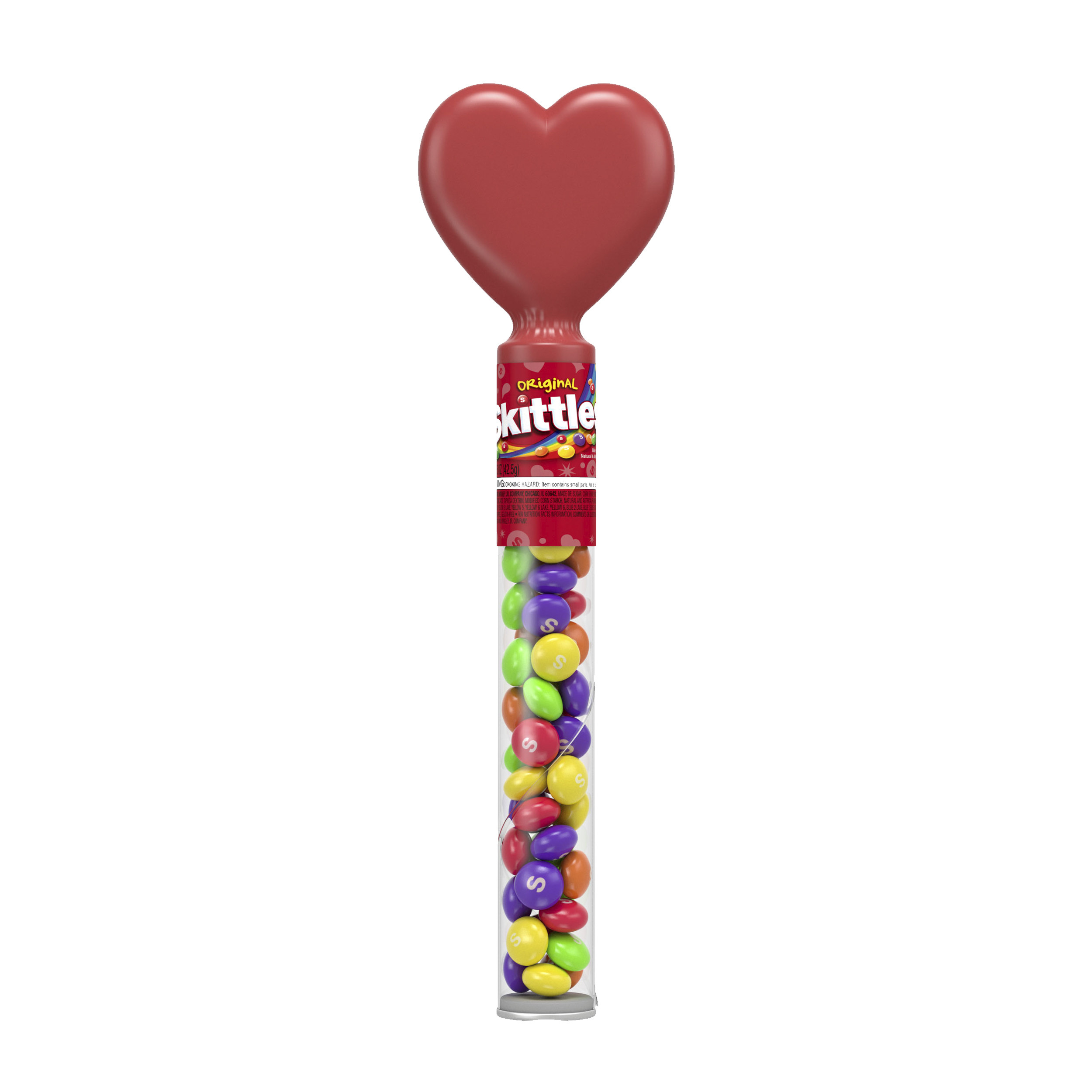 SKITTLES Original Valentine\'s Candy Tube With Heart Topper (1.5-Oz ...