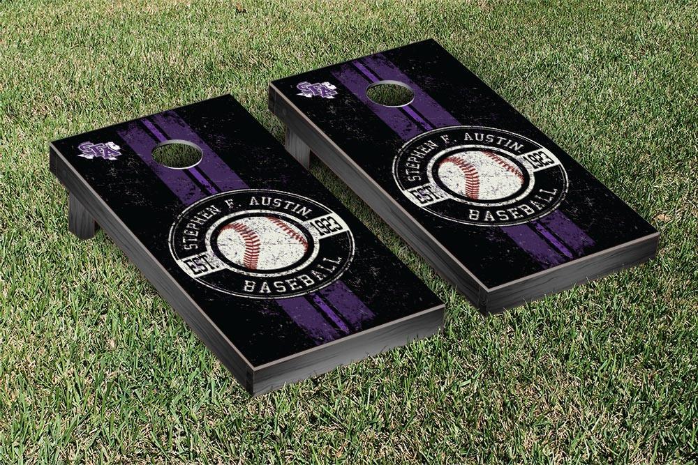 Stephen F. Austin Lumberjacks Regulation Cornhole Game Set Baseball Vintage Version by Victory Tailgate