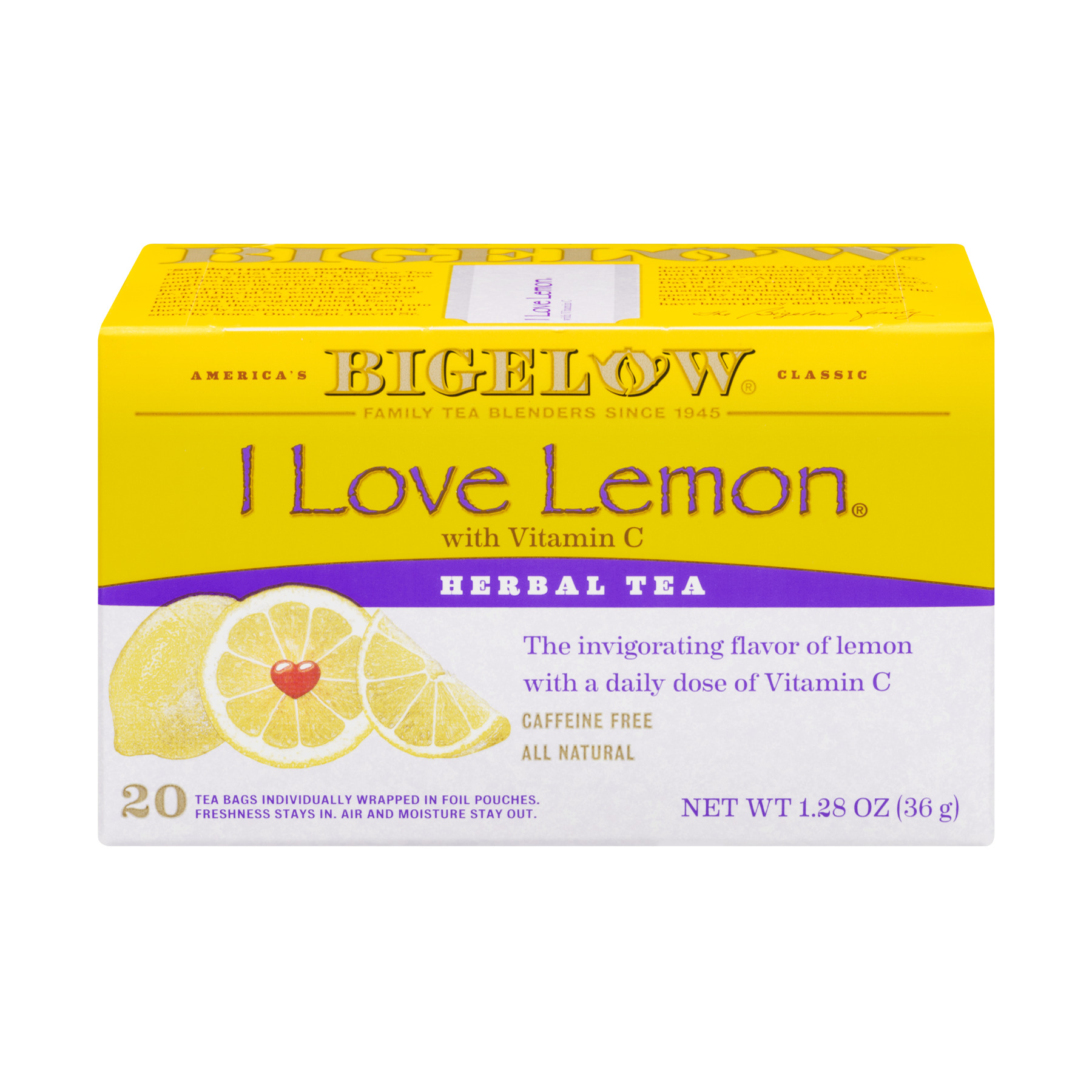 Bigelow Herbal Tea I Love Lemon - 20 CT20.0 CT