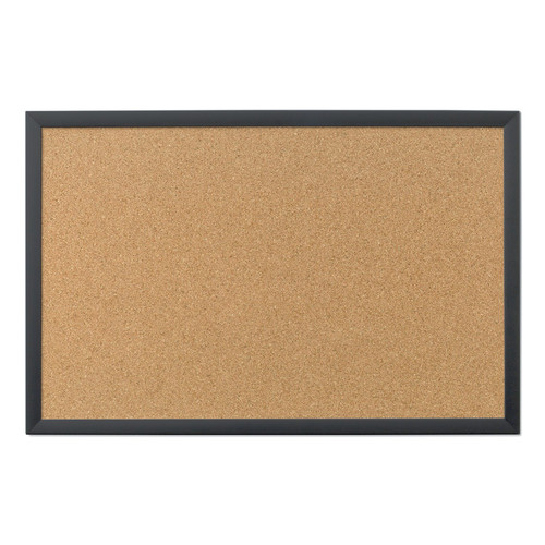 "Cork Bulletin Board With Black Wood Frame 1 Pkg-35""X23"" by U Brands"