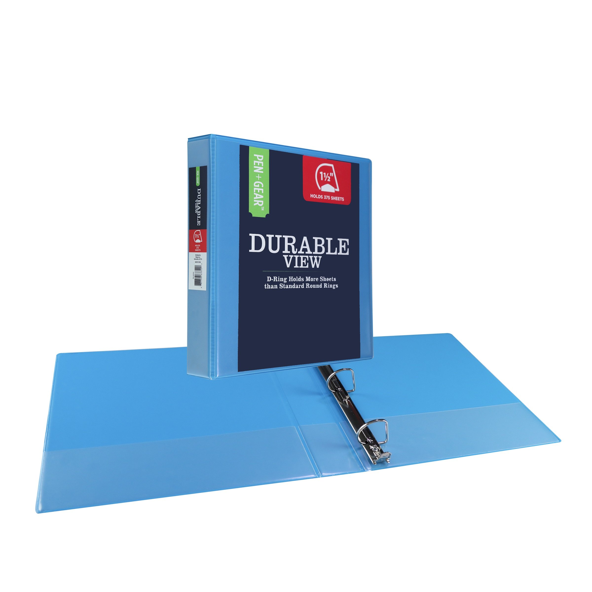 """Pen + Gear Durable View 1.5"""" 3-Ring Binder, 8.5"""" x 11\ by Wal-Mart Stores, Inc."""