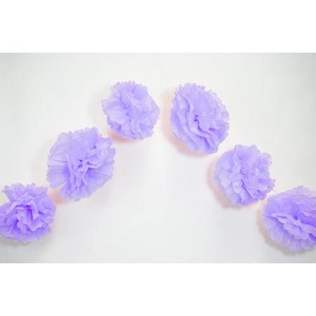 Quasimoon ez fluff 6 lavender hanging tissue paper flower pom pom quasimoon ez fluff 6 lavender hanging tissue paper flower pom pom party mightylinksfo