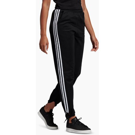 Adidas Womens Knotted Striped Athletic Pants