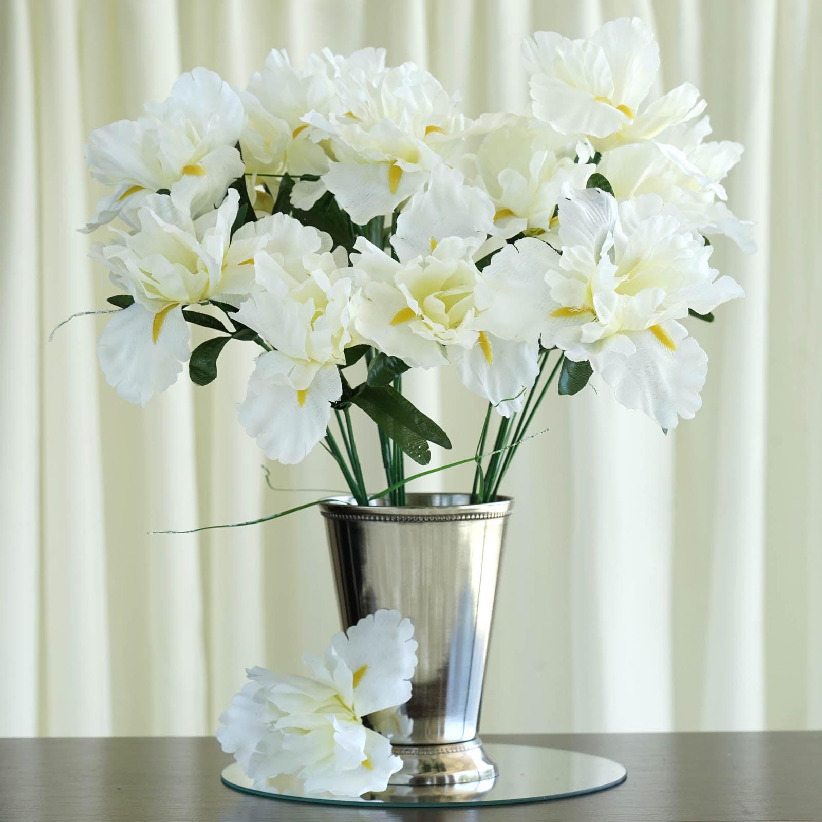Efavormart 60 Pcs Artificial Iris Flowers For Diy Wedding Bouquet