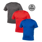 Blank Activewear Pack of 3 Men's T-Shirt, Quick Dry Performance MIX fabric