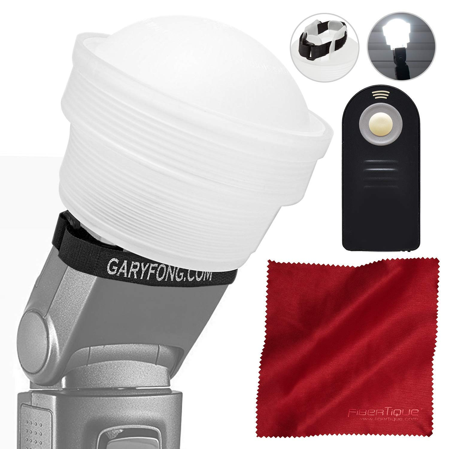 Gary Fong Lightsphere Collapsible with Speed Mount (Generation 5) with Remote for Nikon