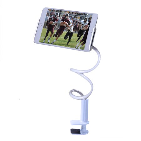 HDE Tablet Holder for iPad, Samsung, and other Android Devices with Flexible Gooseneck Rotating Stand and Mounting Desk Clamp -