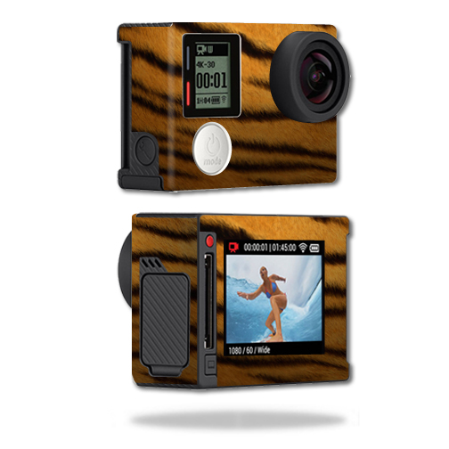 Mightyskins Protective Vinyl Skin Decal Cover for GoPro Hero4 Silver Edition Camera Digital Camcorder wrap sticker skins Tiger