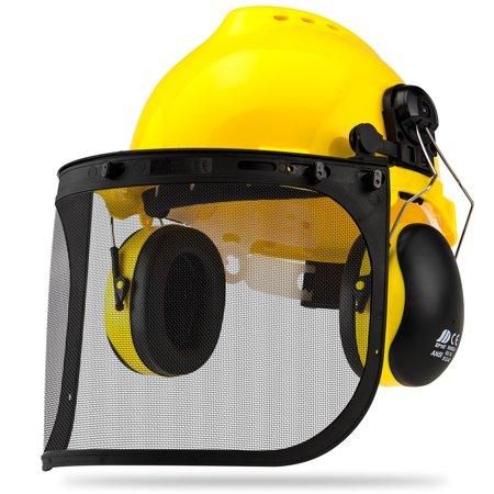 Neiko Professional Safety Helmet | 4-in-1 Construction Hard Hat Ear Face Protection