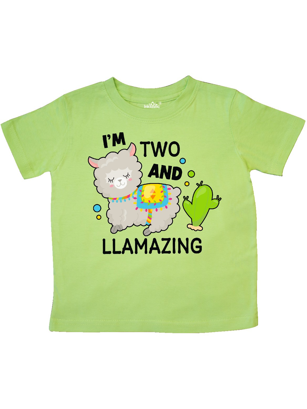 inktastic Im 2 and Llamazing with Llama and Cactus Baby T-Shirt