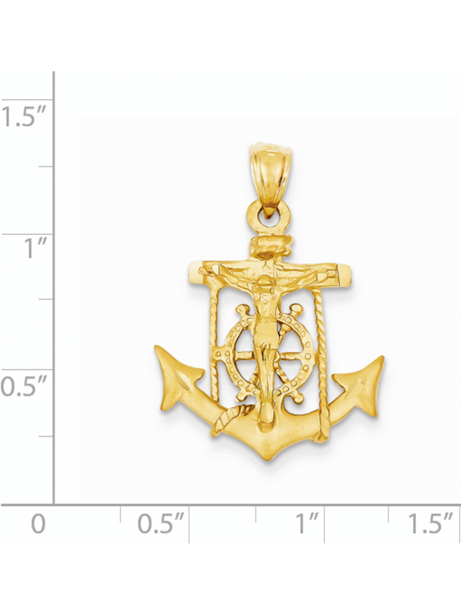 Charm Made in USA 14k Yellow Gold SHEEP Pendant