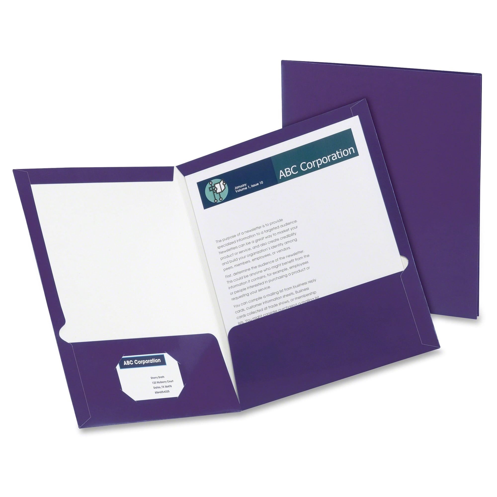 Oxford Metallic Two Pocket Folders - Walmart.com