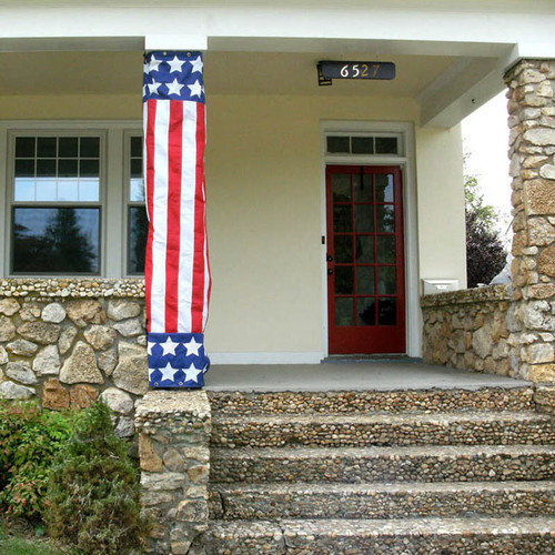 Evergreen Flag & Garden Patriotic Column Wrap Traditional Flag