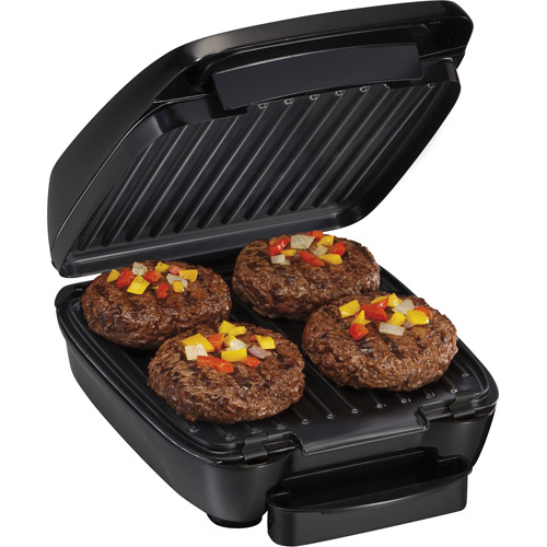 Hamilton Beach Indoor Grill with Removable Grids, Black
