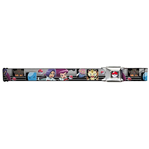 1.0 Wide 20-36 Inches in Length Buckle-Down Seatbelt Belt Jigglypuff 2-Poses//Sparkle Swirls Black//Pink//Grays