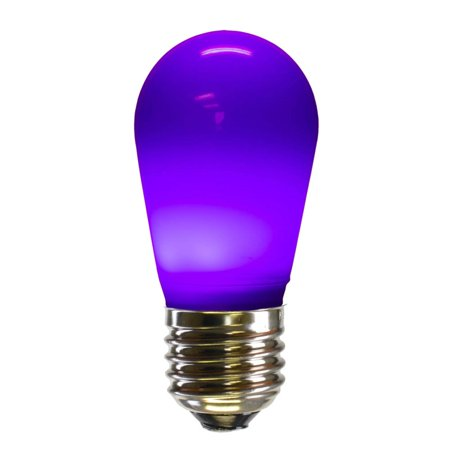 Pack Of 25 Purple Ceramic Led S14 Replacement Christmas Light Bulbs
