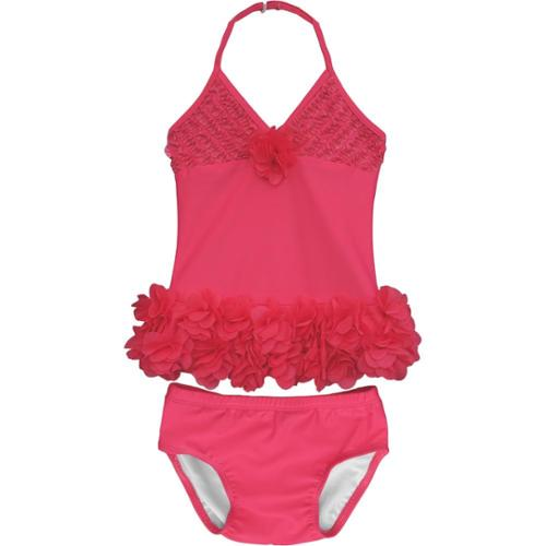 Isobella & Chloe Baby Girls Crimson Maui Muse Two Piece Tankini Swimsuit 3M-24M