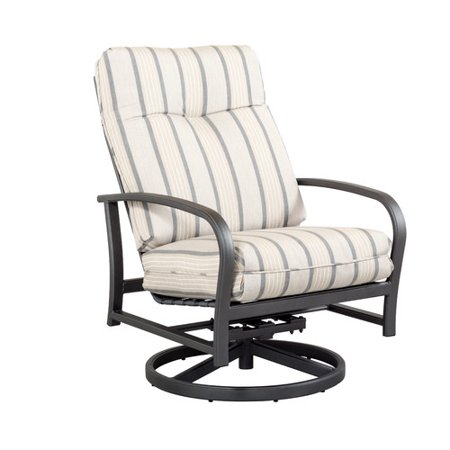 Outdoor Masterpiece Terrabay Swivel Rocking Chair With Cushions