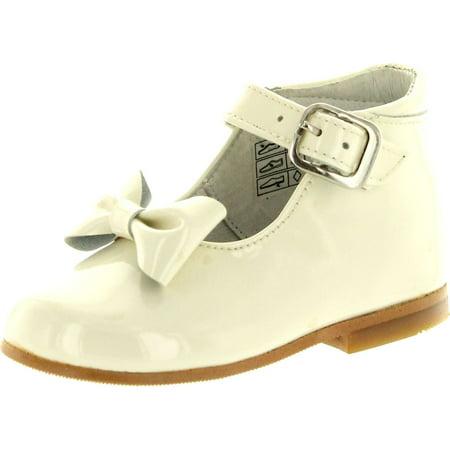 Nens Girls CL-10020 Beautiful Dress Shoes, Beige, - Beautiful Communion Shoes