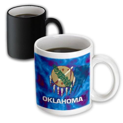 3dRose Oklahoma State Flag, Magic Transforming Mug, 11oz