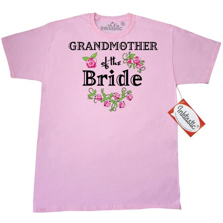 Inktastic Grandmother Of The Bride Roses T-Shirt Wedding Grandma Bridesmaid Flowers Bouquet Party Ceremony Nuptials Mens Adult Clothing Apparel Tees T-shirts