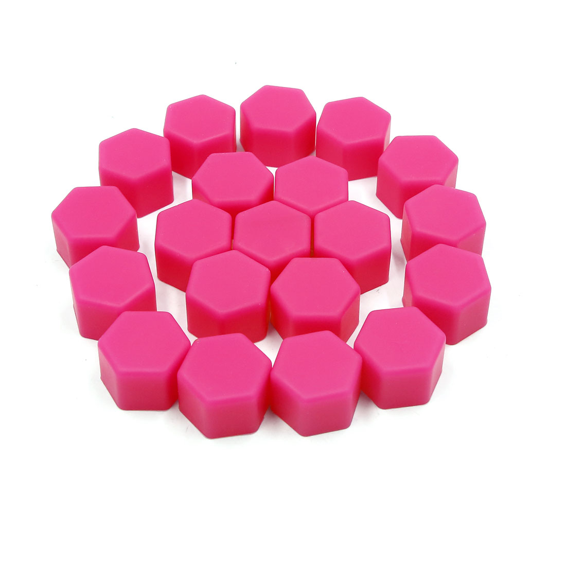20pcs 19mm Rubber Car Wheel Tire Tyre Nut Screw Cover Caps Hub Protector Pink
