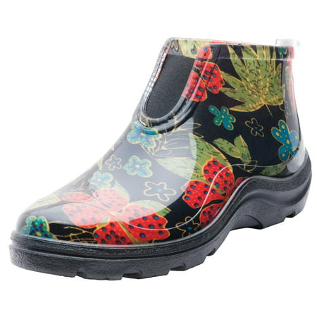 Sloggers Women's Rain & Garden Ankle Boots in Midsummer Black